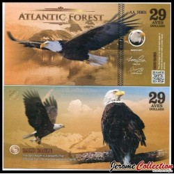 ATLANTIC FOREST - Billet de 29 Aves - Pygargue à tête blanche - 2016