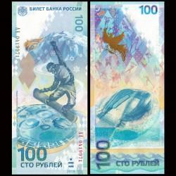RUSSIE - Billet de 100 Roubles - Jeux olympiques d'hiver à Sotchi - AA - 2014