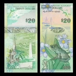 BERMUDES - Billet de 20 DOLLARS - Grenouille - 2009 P60b