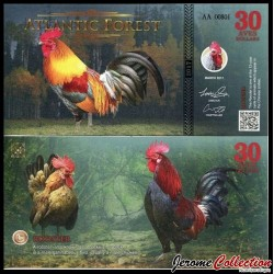 ATLANTIC FOREST - Billet de 30 Aves - Coq - 2016