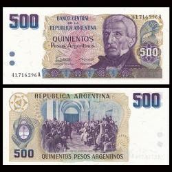 ARGENTINE - Billet de 500 Pesos Argentinos - 1984