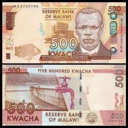 MALAWI - Billet de 500 Kwacha - 2014