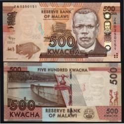 MALAWI - Billet de 500 Kwacha - Remplacement - 2014