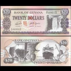 GUYANA - Billet de 20 DOLLARS - Chutes de Kaieteur - 2018