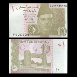 PAKISTAN - Billet de 10 Roupies - 2018 P45m