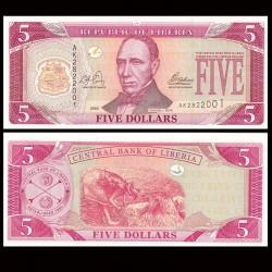 LIBERIA - Billet de 5 DOLLARS - 2003 P26a