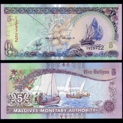 MALDIVES - Billet de 5 Rufiyaa - 2000