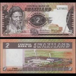SWAZILAND - Billet de 2 Emalangeni - 1984