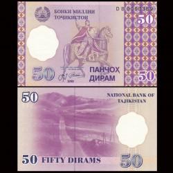 TADJIKISTAN - Billet de 50 Diram - 1999