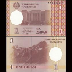 TADJIKISTAN - Billet de 1 Diram - 1999