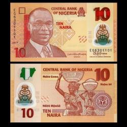 NIGERIA - Billet de 10 Naira - Polymer - 2017