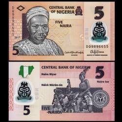 NIGERIA - Billet de 5 Naira - Polymer - 2017