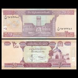 AFGHANISTAN - Billet de 20 Afghanis - 2008