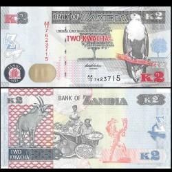 ZAMBIE - Billet de 2 Kwacha - 2012