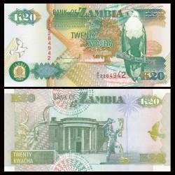 ZAMBIE - Billet de 20 Kwacha - 1992