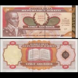 HAITI - Billet de 20 Gourdes - Bicentenaire de la Constitution - 2001 P271a