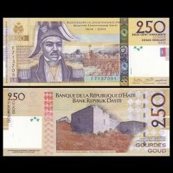 HAITI - Billet de 250 Gourdes - Jean-Jacques Dessalines - 2016