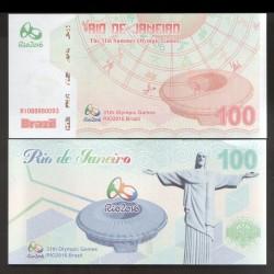 CHINE - Billet du 100 Yuan - Jeux Olympiques - Brésil - Stade Maracana - 2016