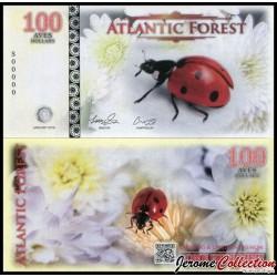 ATLANTIC FOREST - Billet de 100 Aves - Coccinelle - 2016