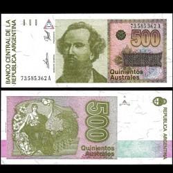 ARGENTINE - Billet de 500 Australes - 1988/1990