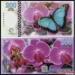ATLANTIC FOREST - Billet de 200 Aves - Papillon - 2016