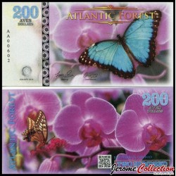 ATLANTIC FOREST - Billet de 200 Aves - Papillon - 2016