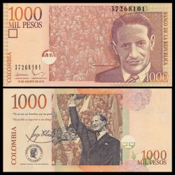 COLOMBIE - Billet de 1000 Pesos - Jorge Eliecer Gaitán - 2015