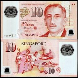 SINGAPOUR - Billet de 10 DOLLARS - Polymer - Sports - 2018