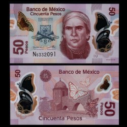 MEXIQUE - BILLET de 50 Pesos - Polymer - 2016