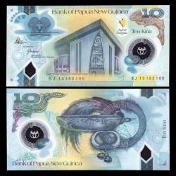 PAPOUASIE NOUVELLE GUINEE - Billet de 10 Kina - Polymer - 35ème anniversaire de l'indépendance - 2010