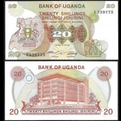 OUGANDA - Billet de 20 Shillings - 1982