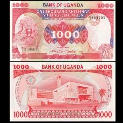 OUGANDA - Billet de 1000 Shillings - Bâtiment du Parlement - 1986 P26a