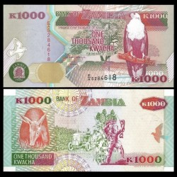 ZAMBIE - Billet de 1000 Kwacha - 1992
