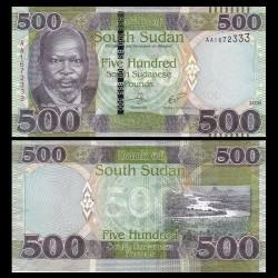 SUD SOUDAN - BILLET de 500 Livres Soudanaise - 2018 P16a
