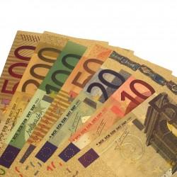 EURO - Lot / Set Complet de 7 Billets - 5 10 20 50 100 200 500 - Dorés - Couleur
