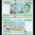 CAMEROUN - Billet de 5000 Francs - 2002 / 2017 P209Ue- Lettre U