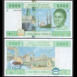 BEAC - Cameroun - Billet de 5000 Francs - 2002 / 2017