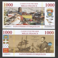 SAINT PIERRE ET MIQUELON - Billet de 1000 Francs - Port - 2018