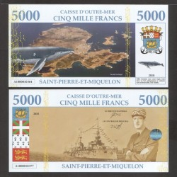 SAINT PIERRE ET MIQUELON - Billet de 5000 Francs - Archipel - 2018