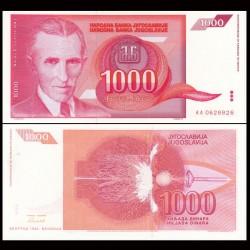YOUGOSLAVIE - Billet de 1000 Dinara - Nikola Tesla - 1992 P114a