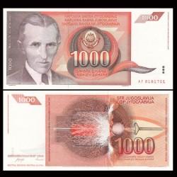 YOUGOSLAVIE - Billet de 1000 Dinara - Nikola Tesla - 1990