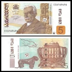 GEORGIE - Billet de 5 Lari - Ivane Javakishvili - 2013 P70d