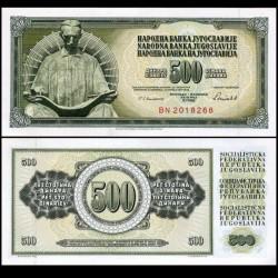 YOUGOSLAVIE - Billet de 500 Dinara - 16 V 1986