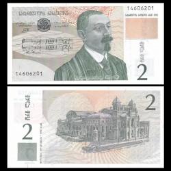 GEORGIE - Billet de 2 Lari - Zakaria Paliachvili - 1995