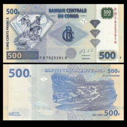 CONGO - BILLET de 500 Francs - Chercheurs de diamants - 2013