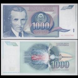 YOUGOSLAVIE - Billet de 1000 Dinara - Nikola Tesla - 1991