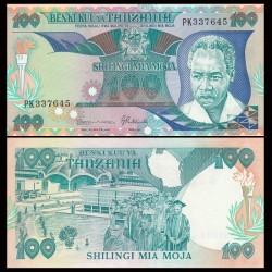 TANZANIE - Billet de 100 Shillings - 1986