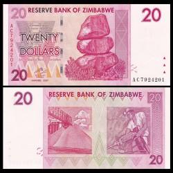 ZIMBABWE - Billet de 20 DOLLARS - 2007