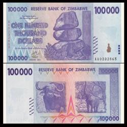 ZIMBABWE - Billet de 100000 DOLLARS - 2008