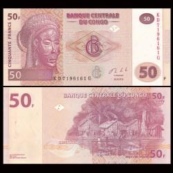 CONGO - BILLET de 50 Francs - 2013